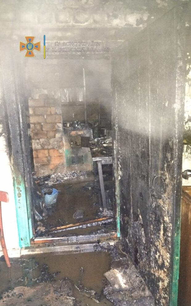 В селе на Харьковщине сгорела летняя кухня