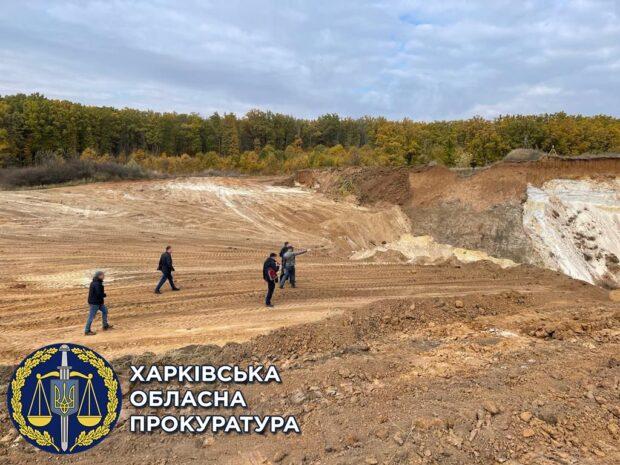 Под Харьковом прекратили деятельность незаконного карьера